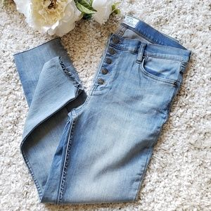 Free people Reagan button front jeans sky sz:30